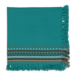Agate Blue Hacienda Fringe Cotton Cloth Table Napkin 20x20 from Design Imports