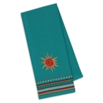 Southwest Themed Sun Embroidered Cotton Dish Towel 18x28 from Design Imports