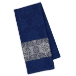 Starflakes Blue Jacquard Cotton Dish Towel 18x28 from Design Imports