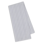 Silver Metallic Stripes Cotton Dish Towel 18x28 from Design Imports