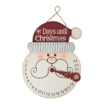 Santa Fays Days Til Christmas Advent Countdown Hanging Sign 16.75 Inch from Design Imports