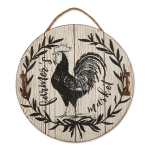Farmhouse Rooster Farmers Market Decorative Hanging Sign 15.5 Inch from Design Imports