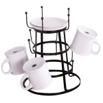 Vintage Themed Metal Kitchen Coffee Mug Stand from Design Imports