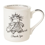 Thank You Mug Sentiment Stoneware Coffee Mug 16 Ounce by Children of the Inner Light from Enesco