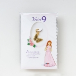 Age 9 Gold Plated Butterfly Charm .63 Inch by Growing up Girls from Enesco