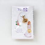 Age 12 Gold Plated Hat Charm .5 Inch by Growing up Girls from Enesco