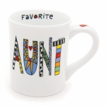Cuppa Doodle Favorite Aunt Stoneware Coffee Mug 16 Oz by Our Name Is Mud from Enesco