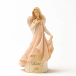 Thank You Mini Stone Resin Angel Figurine 4.25 Inch by Foundations from Enesco
