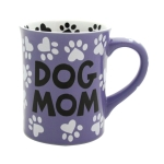 Dog Mom Coffee Mug 16 Oz (My Child Has Four Legs & Fur) by Our Name Is Mud from Enesco