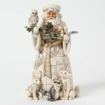 Woodland Santa With Owl Figurine 9.75 Inch by Jim Shore Heartwood Creek from Enesco