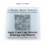Photo Frame Drink Coaster (Study Finds Link Between Drinking & Honesty) by Really Great News from Enesco