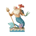 Little Mermaid Ariel & Triton Figurine 9.75 Inch by Disney Traditions from Enesco
