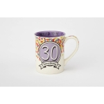 30 Something Happy Birthday Stoneware Coffee Mug (When Is Old Enough To Know Better) 16 Oz by Our Name Is Mud from Enesco