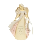 60th Birthday Crystal Stone Resin Angel Figurine (Angels Danced The Day You Were Born) 7.6 Inch by Foundations from Enesco