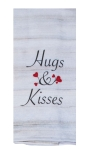 Heart Accents Hugs & Kisses Dual Purpose Cotton Kitchen Dish Terry Towel 16x26 from Kay Dee Designs