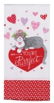 Cat On Heart You're Purrfect Dual Purpose Cotton Kitchen Dish Terry Towel from Kay Dee Designs
