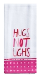 XOXO Hugs Not Ughs Cotton Kitchen Dish Tea Towel 18x28 from Kay Dee Designs