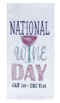National Wine Day Embroidered Cotton Kitchen Dish Flour Sack Towel from Kay Dee Designs