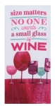 Wine Lover Size Matters Dual Purpose Cotton Kitchen Dish Terry Towel 16x26 from Kay Dee Designs