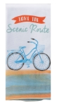 Bicycle Themed Take The Scenic Route Dual Purpose Cotton Kitchen Dish Terry Towel 16x26 from Kay Dee Designs
