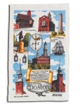 Historic Boston Souvenir Cotton Kitchen Dish Towel 18x28 from Kay Dee Designs