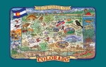 Colorado The Centennial State Adventure Destinations Cotton Kitchen Dish Tea Towel from Kay Dee Designs