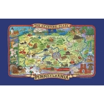 Pennsylvania The Keystone State Adventure Destinations Cotton Dish Tea Towel 18x28 from Kay Dee Designs