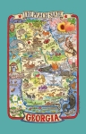 Georgia The Peach State Adventure Destinations Cotton Dish Tea Towel 18x28 from Kay Dee Designs
