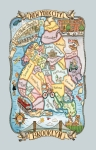 Brooklyn Adventure Destinations Cotton Dish Tea Towel 18x28 from Kay Dee Designs