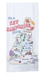 It's A New Hampshire Thing Embroidered Cotton Flour Sack Dish Towel from Kay Dee Designs