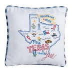 It's A Texas Thing Embroidered Decorative Cotton Throw Pillow 12x12 from Kay Dee Designs