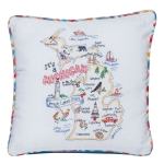 It's A Michigan Thing Embroidered Decorative Cotton Throw Pillow 12x12 from Kay Dee Designs