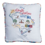 It's A South Carolina Thing Embroidered Decorative Cotton Throw Pillow 12x12 from Kay Dee Designs