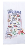 It's An Indiana Thing Cotton Embroidered Flour Sack Dish Towel from Kay Dee Designs