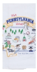 It's A Pennsylvania Thing Embroidered Cotton Kitchen Flour Sack Dish Towel from Kay Dee Designs