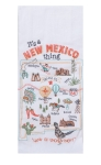 It's A New Mexico Thing Embroidered Cotton Kitchen Dish Flour Sack Towel from Kay Dee Designs