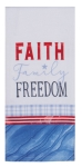 Faith Family Freedom Cotton Dual Purpose Dish Terry Towel 16x26 from Kay Dee Designs