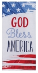 American Flag Design God Bless America Dual Purpose Cotton Dish Terry Towel 16x26 from Kay Dee Designs