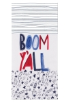 Land I Love Firecracker Themed Boom Y'all Cotton Herringbone Dish Tea Towel 18x28 from Kay Dee Designs