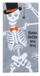 Skeleton Themed Shake Rattle & Roll Dual Purpose Cotton Dish Terry Towel 16x26 from Kay Dee Designs