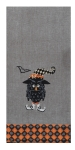 Harlequin Owl With Witch Hat Cotton Embroidered Dish Tea Towel 18x28 from Kay Dee Designs