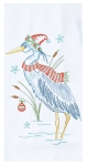 Holiday Heron Cotton Embroidered Kitchen Dish Flour Sack Towl 26x26from Kay Dee Designs