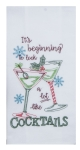 It's Beginning To Look A Lot Like Cocktails Embroidered Flour Sack Kitchen Dish Towel from Kay Dee Designs