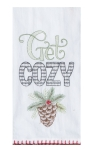 Pine Cone Design Get Cozy Cotton Embroidered Kitchen Dish Flour Sack Towel 26x26 from Kay Dee Designs