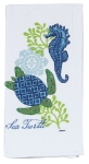 Sea Turtle Design Cotton Flour Sack Kitchen Towel from Kay Dee Designs