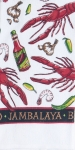 Lobster Jambalaya Themed Cotton Dish Terry Towel 16x26 from Kay Dee Designs