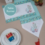 Cactus Garden Themed Cotton Table Runner Cloth 13x72 from Kay Dee Designs