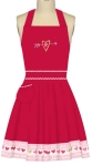 Red & Pink Heart Accent Cotton Kitchen Apron with Sparkle Glitter from Kay Dee Designs