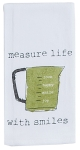 Measure Life With Smiles Cotton Krinkle Flour Sack Kitchen Towel 18x26 from Kay Dee Designs