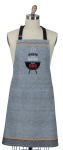Where There's Smoke There's BBQ Cotton Kitchen Chef Apron from Kay Dee Designs